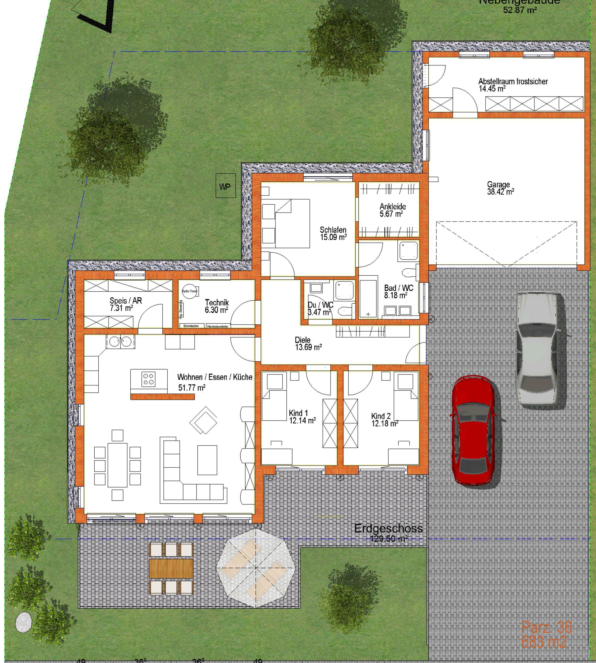 In Planung: Neubau eines Bungalows mit Doppelgarage - Kosa ...